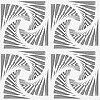 Modern Seamless Pattern. Geometric Background With Perforated Effect. Shadow Creates 3D Texture.Perforated Striped Rotated Triangular Shapes