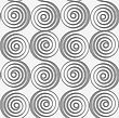 Modern Seamless Pattern. Geometric Background With Perforated Effect. Shadow Creates 3D Texture.Perforated Merging Spirals