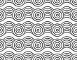 Modern Seamless Pattern. Geometric Background With Perforated Effect. Shadow Creates 3D Texture.Perforated Circles On Bulging Ribbon