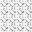 Modern Seamless Pattern. Geometric Background With Perforated Effect. Shadow Creates 3D Texture.Perforated Gears With Thickening