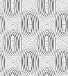Modern Seamless Pattern. Geometric Background With Perforated Effect. Shadow Creates 3D Texture.Perforated Ovals On Continues Lines