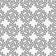 Modern Seamless Pattern. Geometric Background With Perforated Effect. Shadow Creates 3D Texture.Perforated Complex Gears