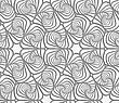 Modern Seamless Pattern. Geometric Background With Perforated Effect. Shadow Creates 3D Texture.Perforated Swirly Striped Rounded Shapes
