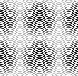 Monochrome Abstract Geometrical Pattern. Modern Gray Seamless Background. Flat Simple Design.Gray Wavy Lines With Thickenings