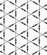 Monochrome Abstract Geometrical Pattern. Modern Gray Seamless Background. Flat Simple Design.Gray Clubs Forming Triangles
