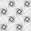 Monochrome Abstract Geometrical Pattern. Modern Gray Seamless Background. Flat Simple Design.Gray Striped Shapes Forming Squares