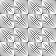 Monochrome Abstract Geometrical Pattern. Modern Gray Seamless Background. Flat Simple Design.Gray Diagonally Striped Squared Forming Grid