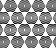 Monochrome Abstract Geometrical Pattern. Modern Gray Seamless Background. Flat Simple Design.Gray Small Hexagons Forming Hexagons