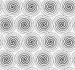 Monochrome Abstract Geometrical Pattern. Modern Gray Seamless Background. Flat Simple Design.Gray Merging Archimedean Spirals