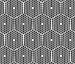 Monochrome Abstract Geometrical Pattern. Modern Gray Seamless Background. Flat Simple Design.Gray Small Hexagons Forming Big Hexagons
