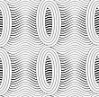 Monochrome Abstract Geometrical Pattern. Modern Gray Seamless Background. Flat Simple Design.Gray Merging Ovals With Wavy Continues Lines