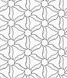 Monochrome Abstract Geometrical Pattern. Modern Gray Seamless Background. Flat Simple Design.Gray Floral With Hatching