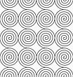 Monochrome Abstract Geometrical Pattern. Modern Gray Seamless Background. Flat Simple Design.Gray Archimedean Spirals
