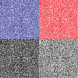 Monochrome Code Abstract Seamless Pattern