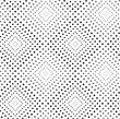 Monochrome Dotted Texture. Abstract Seamless Pattern. Ornament Made Of Dots.Textured With Triangles Light And Dark Squares