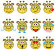 Monster Emojis Set Of Emoticons Icons Isolated. Vector Illustration On White Background