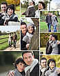 Montage Of Married Couple Walking Through The Park In Autumn