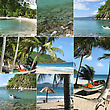 Montage Of Tropical Island stock photo