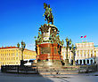Monument To Nicholas I (1859) In St. Petersburg, Russia stock image
