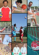 Mosaic Of Various Sports stock photography