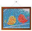 Mosaic Tiles Framed Tweet Birds Background