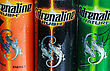 Moscow, Russia - March 18, 2014: Various Energy Drinks Adrenaline Rush. Own Brand Adrenaline Rush (Adrenalin Rush) Is A Company PepsiCo (PepsiCo). PepsiCo - The Second-largest Producer Of Food And Bev stock photo