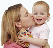 Mother and Baby Girl stock photo