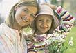 Allergic Mother and Daughter Allergy Free stock photography