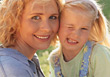 Mother and Daughter Close-Up stock photography
