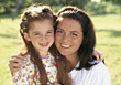 Mother and Daughter Close-Up stock photo