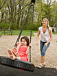Children Mother and Daughter Having Fun stock photography