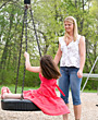Mother and Daughter Having Fun stock photography