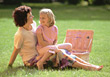 Mother and Daughter Picnic stock photography