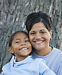 African-American Mother and Daughter stock photography