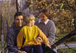 Mother and Father with Son in the Park stock photography
