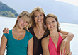 Mother with Teenage Daughters stock image