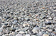 Mound Of Stones On The Bottom Of Dried-up River stock image