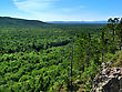Rocky Mountain Forest , Top View stock photo