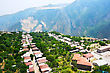 Mountain Village Halidzor View Fron Altitude In Armenia. stock photo