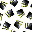 Movie Cinema Clapboard Pattern, Abstract Seamless Texture