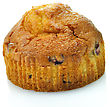 Muffin On White Background stock image