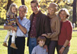 Multi-Generation Family Portrait stock photography