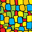 Multicolor Tiles Abstract Seamless Background.