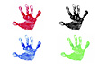 MULTIPLE HAND PRINTS stock image