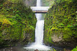 Multnomah Falls In Troutdale, Oregon At Spring Time