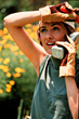 using chatting leisure people women phones stock image