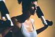 self-defense exercising weight fitness sports muscle stock image