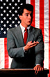 politician politics flag american male adults stock photography