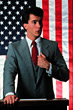 politician politics flag american male adults stock photo
