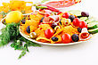 Nachos, Olives, Pork Loin And Vegetables Image